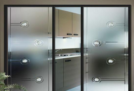 厨房磨砂玻璃推拉门装修效果图
