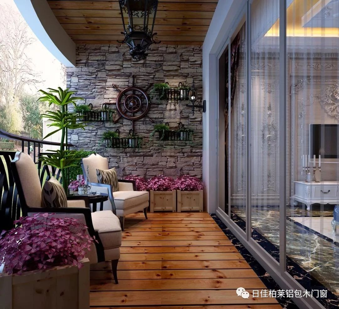 日佳柏莱铝包木门窗:铝包木门窗的平开上悬开启